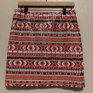 Banana Republic multi color sequin skirt